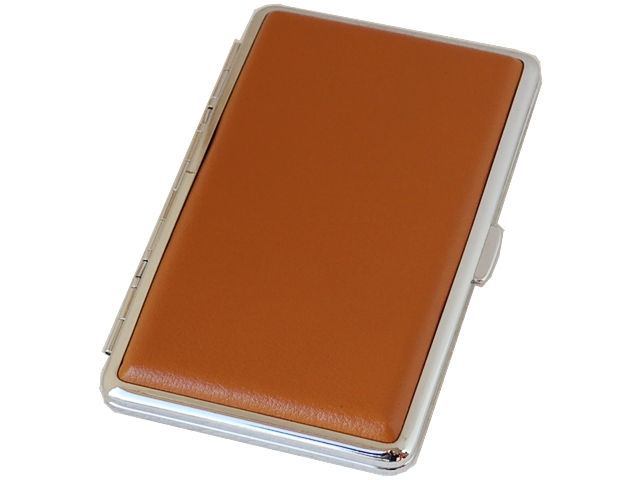 4597 - Ταμπακιέρα Bronica για μακρυά εκατοστάρια τσιγάρα από δέρμα 308-L7 (ταμπά)