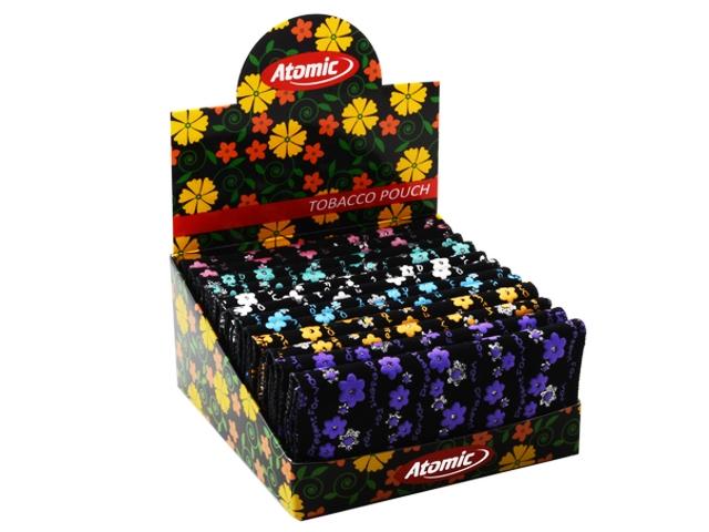 4606 - Κουτί με 12 καπνοθήκες συνθετικές Atomic WP Flowers (για άδεισμα καπνού και σακουλάκι καπνού) 0405911
