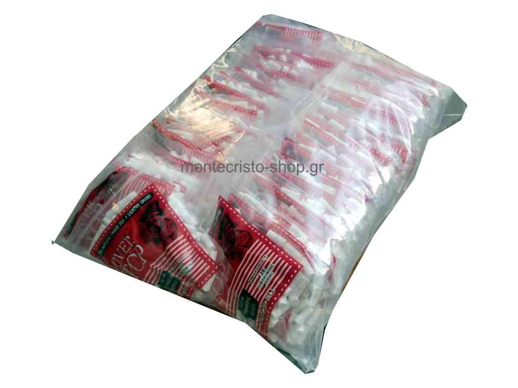 50 σακουλάκια φιλτράκια OVER TOP Slim 6mm με άνθρακα με 120 φίλτρα με τιμή 0,68 το ένα.