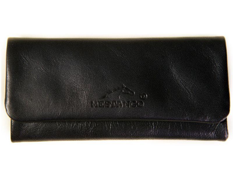 4676 - Δερμάτινη καπνοθήκη MESTANGO 4000-1 μαύρη μεγάλη για σακουλάκι καπνού
