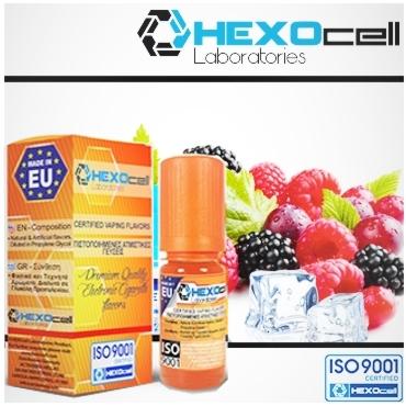 Άρωμα Hexocell FROZEN FRUITS 10ml (φρούτα και μέντα)