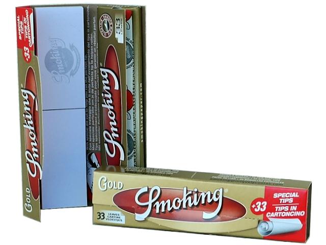 4712 - Χαρτάκια Smoking GOLD king size + Filter Tips και τζιβάνες