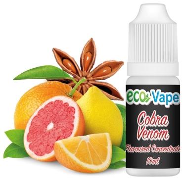 Άρωμα Eco Vape COBRA VENOM 10ml (λεμόνι σαγκουίνι πορτοκάλι & γλυκάνισος)