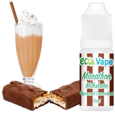Άρωμα Eco Vape MARATHON MILKSHAKE 10ml (milkshake με σοκολάτα καραμέλα & ξηρούς καρπούς))