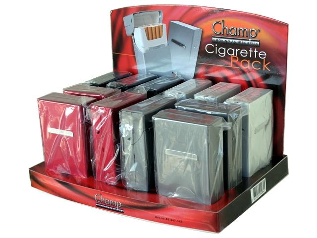 4780 - Κουτί με 12 θήκες για κανονικό πακέτο τσιγάρων Champ Cigarette Pack από αλουμίνιο 40447343