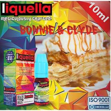 4791 - LIQUELLA BONNIE & CLYDE 10ml (κρέμα καραμέλα παντεσπάνι) 10ml