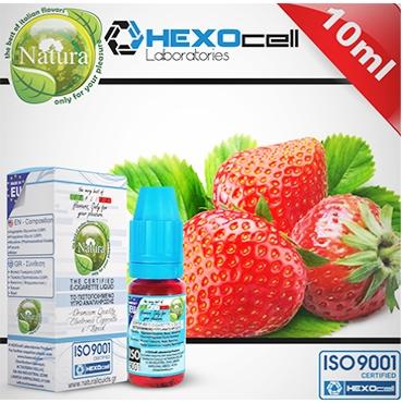 Υγρό αναπλήρωσης Natura STRAWBERRY από την Hexocell 10 ml (φράουλα)