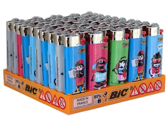 Κουτί με 50 αναπτήρες Bic Mini J25 slv monsters17