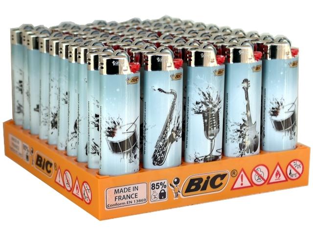 Κουτί με 50 αναπτήρες Bic Maxi (μεγάλοι) J25 slv MUSIC ORGANS