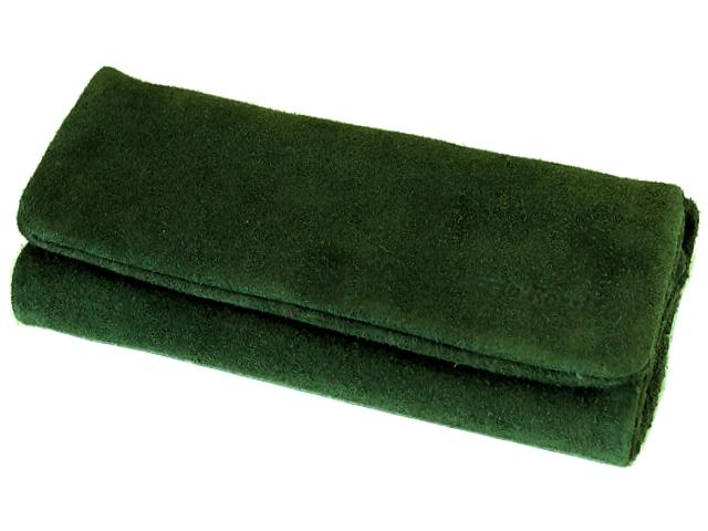 Καπνοθήκη Mario Rossi δερμάτινη Σουέτ ΠΡΑΣΙΝΗ για σακουλάκι καπνού 2681-08 JUNGLE GREEN