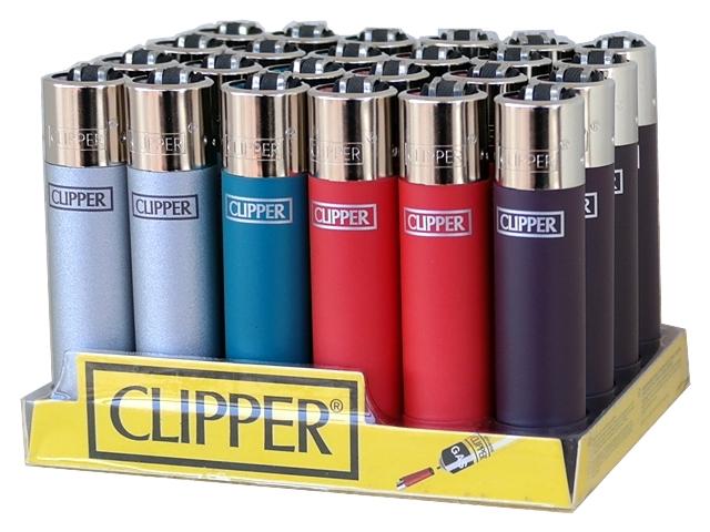 4806 - Κουτί με 24 αναπτήρες Clipper LARGE (μεγάλος) METALLIC 2