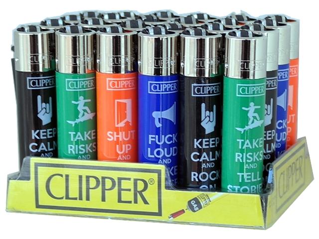 4808 - Κουτί με 24 αναπτήρες Clipper SENTENCES 15 SL LARGE