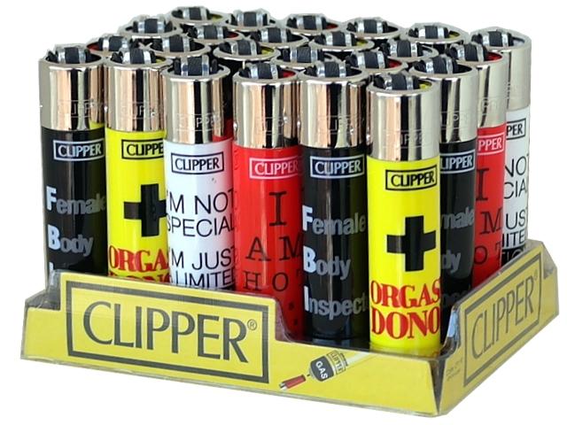 Κουτί με 24 αναπτήρες Clipper HOT MESSAGES SI LARGE