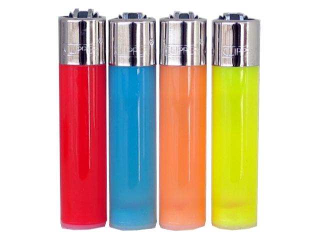 Αναπτήρας Clipper LARGE Colors ημιδιάφανος