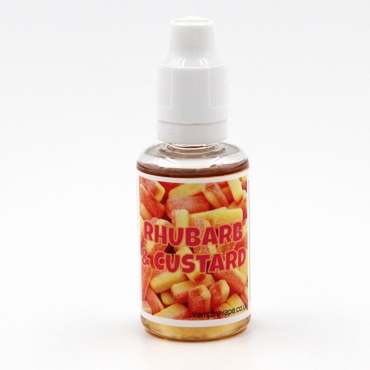 4883 - Άρωμα Vampire Vape Uk Rhubarb & Custard 30ml (ζελέ & κρέμα custard)