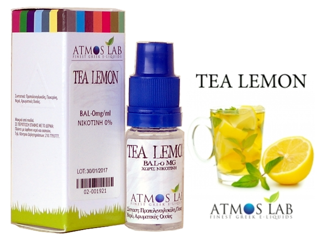 Atmos Lab TEA LEMON 10ml (τσάι με λεμόνι)