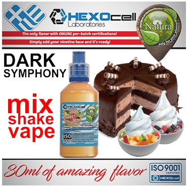 NATURA MIX SHAKE VAPE DARK SYMPHONY 30/60ML (κρεμώδη και φρουτένια γεύση)