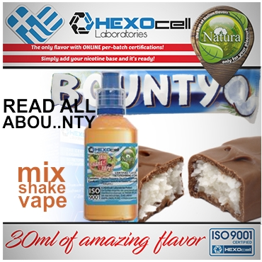 NATURA MIX SHAKE VAPE READ ALL ABOU..NTY 30/60ML (σοκολάτα & καρύδα)