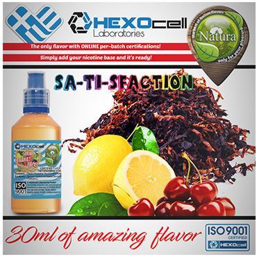 NATURA MIX SHAKE VAPE SA-TI-SFA-CTION 30/60ML (καπνική γεύση με κεράσι και λεμόνι)
