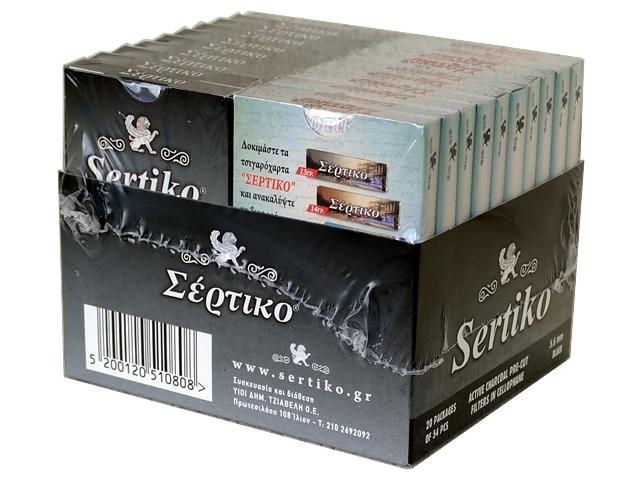 Κουτί MIX με 10 φιλτράκια ΣΕΡΤΙΚΟ ΜΑΥΡΟ 54 ΕΝΕΡΓΟΥ ΑΝΘΡΑΚΑ & 10 φιλτράκια ΣΕΡΤΙΚΟ ΓΑΛΑΖΙΟ 54 Extra Slim