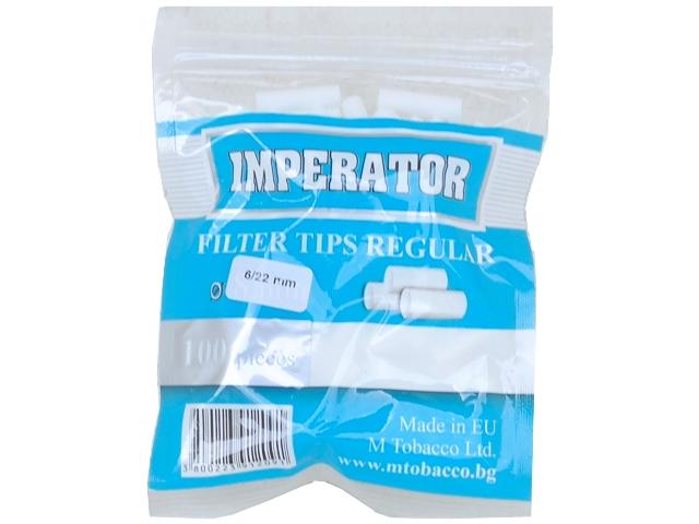 Φιλτράκια IMPERATOR Slim Long 6mm με 100 φίλτρα το σακουλάκι και μακρύ φίλτρο 22mm
