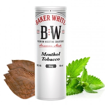 Baker White Menthol Tobacco 10ml (White) (καπνικό με μέντα)