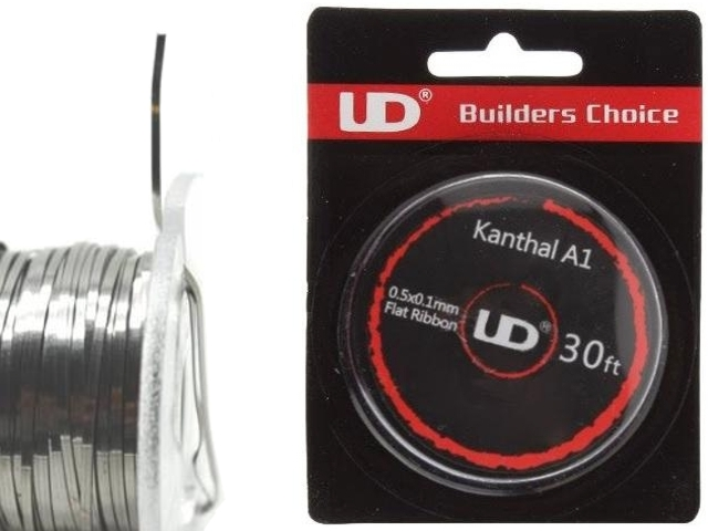 5131 - Σύρμα UD KANTHAL A1 0.5*0.1 mm.10 m/roll ribbon wire (10m) φαρδύ