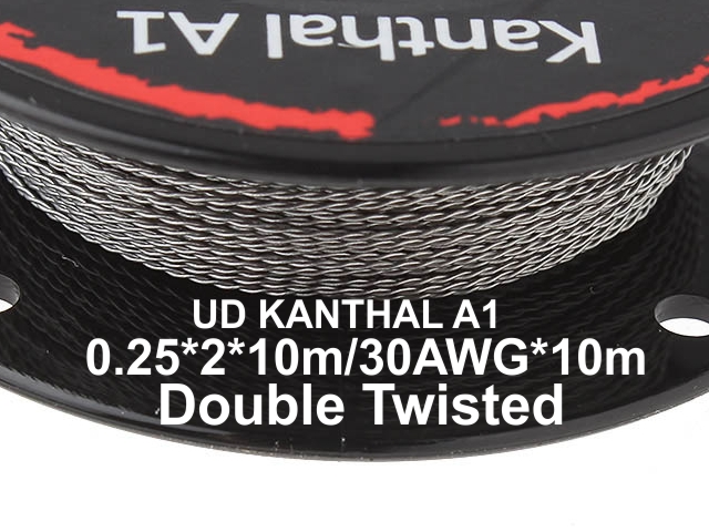 5132 - Σύρμα UD TWISTED KANTHAL A1 0.25*2*10m/30AWG*10m Double Twisted