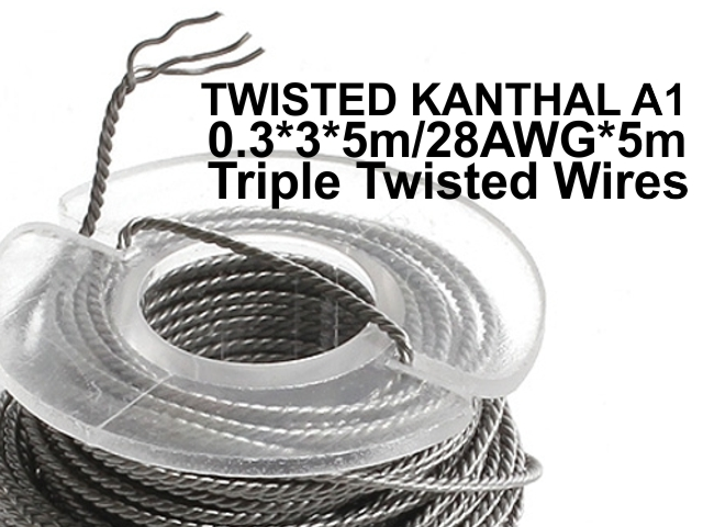 5134 - Σύρμα UD TRIPLE TWISTED KANTHAL A1 0.3*3*5m/28AWG*5m Triple Twisted Wires