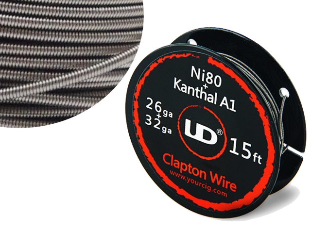 5137 - Σύρμα UD KANTHAL CLAPTON 26g+32g Nichrome core (Ni80) 5.0m