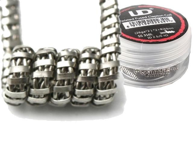Προτυλιγμένο σύρμα UD Twisted fuse clapton coil 0.1Ω (10 σύρματα)