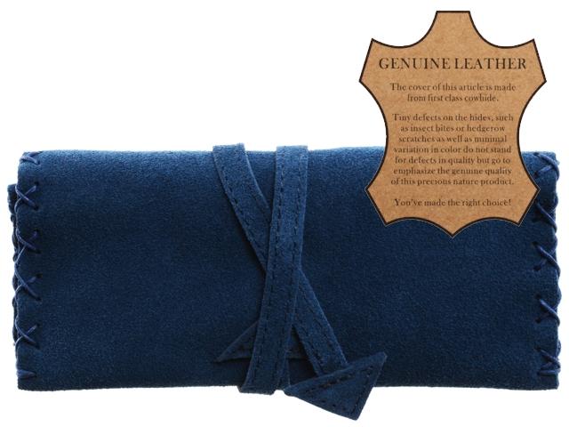 Καπνοθήκη ATOMIC από γνήσιο δέρμα 0405953 (μπλε)
