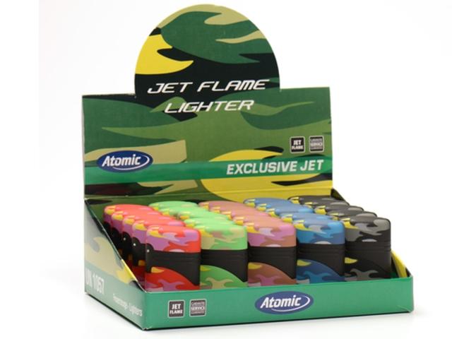 Κουτί με 25 αντιανεμικούς αναπτήρες ATOMIC Exclusive Jet Camouflage 2514551