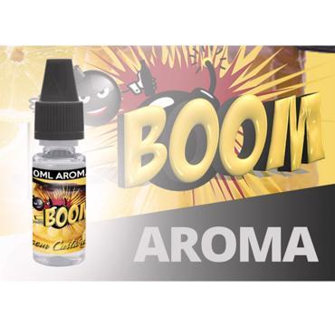 5204 - Άρωμα K-boom flavour BOOM CUSTARD 2 10ml (ενισχυμένη γεύση κρέμα καραμέλα βανίλια)