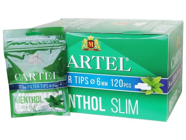 Κουτί με 34 φιλτράκια Cartel MENTHOL SLIM 6.0mm