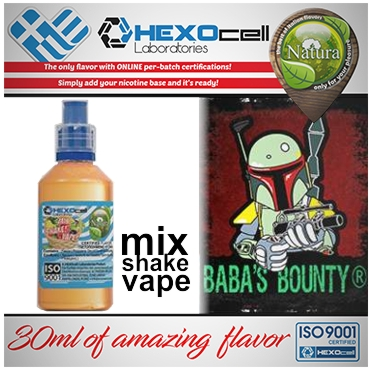 NATURA MIX SHAKE VAPE BABAS BOUNTY 30/100ML (παγωτό μπανάνα)