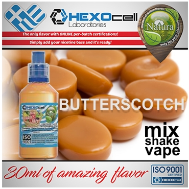 NATURA MIX SHAKE VAPE BUTTERSCOTCH 30/60ML (καραμέλα βουτύρου)