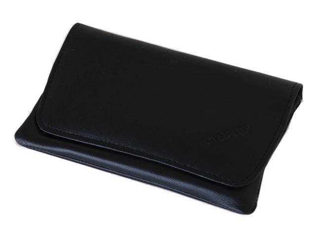 5364 - Καπνοθήκη από γνήσιο δέρμα Over Top 9901 BLACK (μεσαία - μεγάλη)