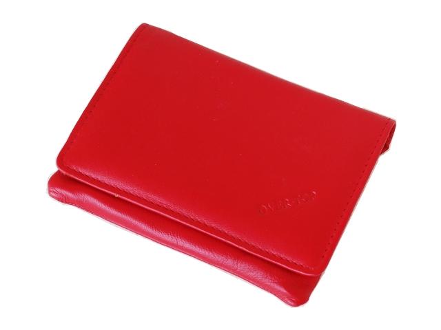 5391 - Καπνοθήκη από γνήσιο δέρμα Over Top 10043 RED (μεσαία που κλείνει με φερμουάρ)