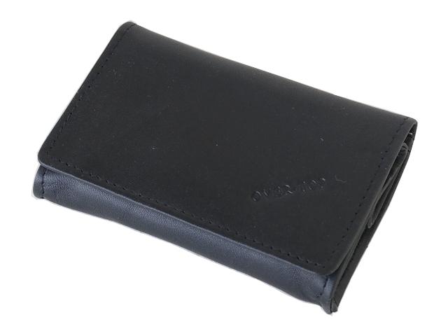 5410 - Καπνοθήκη από γνήσιο δέρμα Over Top 10046 BLACK (μικρό - μεσαίο πουγκί)