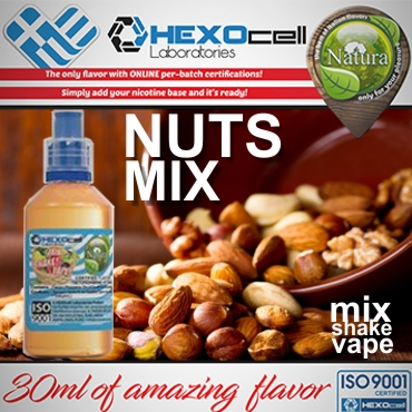 NATURA MIX SHAKE VAPE NUTS MIX 30/60ML (ξηροί καρποί)