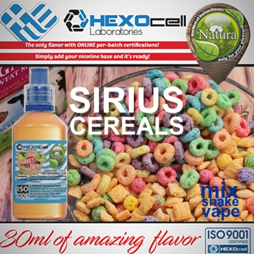 NATURA MIX SHAKE VAPE SIRIUS CEREALS 30/60ML (δημητριακά & ζαχαρωτά)