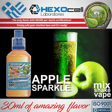 5485 - NATURA MIX SHAKE VAPE APPLE SPARKLE 30/60ML (μήλο και βύσσινο)