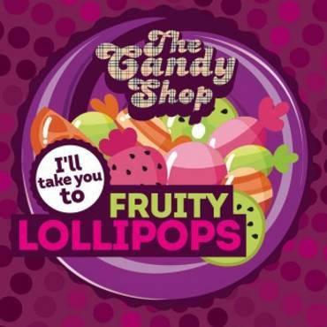 5556 - Άρωμα BIG MOUTH LIQUIDS THE CANDY SHOP Fruity Lollipops 10ml (ώριμα φρούτα)
