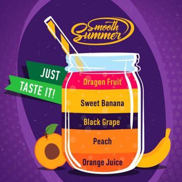 5566 - Άρωμα BIG MOUTH LIQUIDS SMOOTH SUMMER OPBSD 10ml (πορτοκάλι,ροδάκινο,σταφύλι,μπανάνα & φρούτα του δράκου)