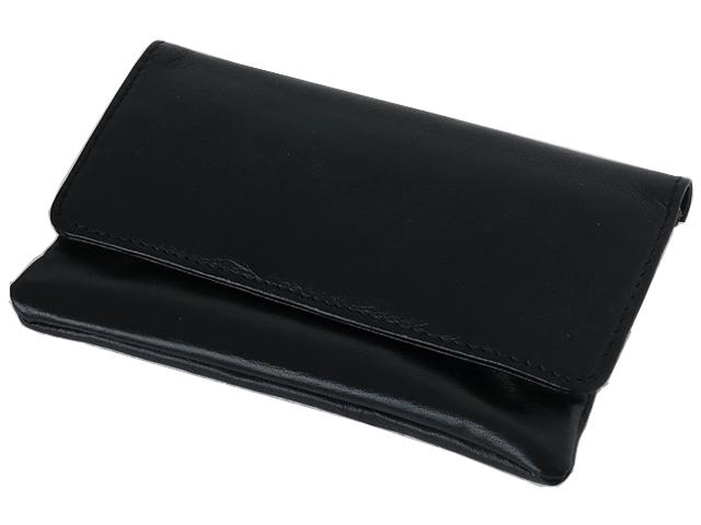 5589 - Καπνοσακούλα Rolling 44404-000 από γνήσιο δέρμα (μαύρη μεγάλη)
