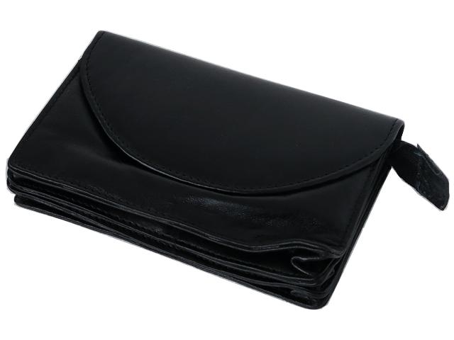 Καπνοσακούλα Rolling 44428-000 από γνήσιο δέρμα (μαύρο τσαντάκι)