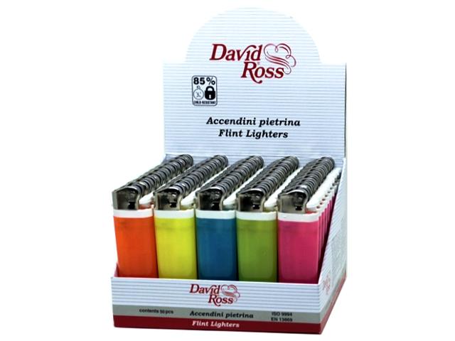5597 - Κουτί με 50 αναπτήρες David Ross Maxi 2903