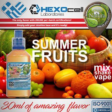 NATURA MIX SHAKE VAPE SUMMER FRUITS MIX 30/60ML (συνδιασμός καλοκαιρινών φρούτων)