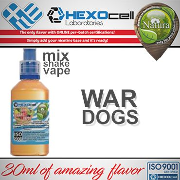 NATURA MIX SHAKE VAPE WAR DOGS 30/60ML (ελαφρύ καπνικό)